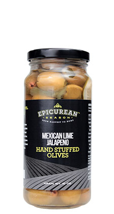 Mexican Lime Jalapeno Hand Stuffed Olives