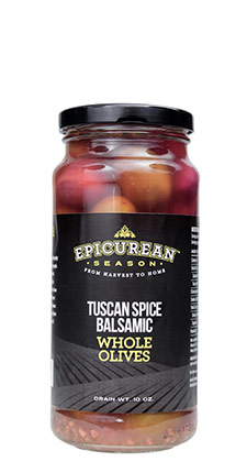 Tuscan Spice Balsamic Whole Olives